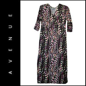 Avenue Women Stretch Short Sleeve Maxi Dress 14